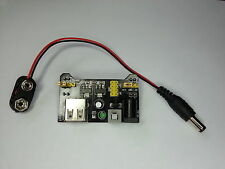 Breadboard Power Supply 5/3.3V+PP3 Batt Connector-Prototype AVR,Pi,Arduino,PIC