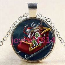 Nightmare Before Christmas Cabochon silver Glass Chain Pendant Necklace #3010