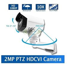 Outdoor HDCVI IR PTZ Camera 10x Optical Zoom, Up to 30fps @ 1080p HD, 250ft.