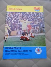 Dukla Prague v Glasgow Rangers (european cup winners cup 16-09-81)