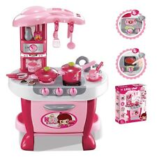 Deluxe Kids Kitchen Appliance Cooking Play Set With Lights & Sound 31 Pcs New