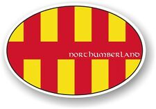 Classic Oval Design With Northumberland Country Flag vinyl car sticker Decal