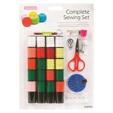 Sewing Pack Kit Set Thread Needle Scissor Tape Measure Threader Thimble DW