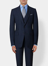 New TOM FORD Dark Blue 3 Piece Suit 2017 Wool Slim-Fit 38 R US/48 IT $5450
