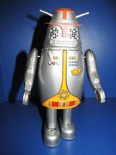 BILLIKEN SHOKAI CAPTAIN ULTRA'S ROBOT HUCK SILVER TIN WIND UP