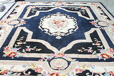 Royal Palace French Savonnerie 7' x 9' Wool Rug  NAVY RTL$529