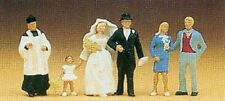 HO Preiser 10058 Catholic Wedding Party with Priest SIX FIGURES