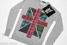 New eYe COMME des GARCONS x JOHN SMEDLEY UK Mens Pullover Sweater 100%AUT RARE M