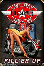 """Vintage Harley Davidson With Pin Up Girl Photo Fridge Magnet 2""""x3"""" Collectibles"""