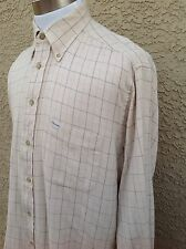 Awesome Faconnable Men's Beige Long Sleeve Shirt Large  D93
