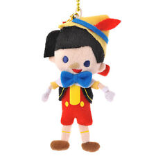 Official Disney Store Japan * Pinocchio Plush Doll Badge Keychain * 11cm Cute