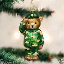 *Army Bear* Military [12402] Old World Christmas Glass Ornament - NEW