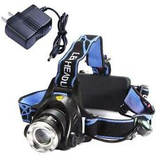 Rechargeable 2000Lm CREE XM-L T6 LED Zoomable Headlamp Headlight + AC Charger TI