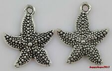 30pcs delicate Tibet silver starfish Jewelry finding Charm Pendant 23x19mm