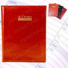 "8.5"" x 6.5"" PADDED A-Z PHONE & ADDRESS BOOK Directory Records Office Index Desk"