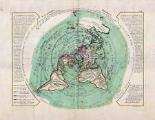 Buache de Neuville Map of the World on Polar Projection circa 1781 [Flat Earth]