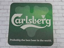 Beer Breweriana Coaster    CARLSBERG of Denmark: Probably Best Beer in the World