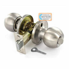 Stainless Steel PRIVACY KNOB SET Bathroom Locking Door Handle Latch Fixings