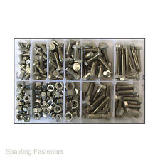 "Assorted 1/4"", 5/16"" & 3/8"" UNC A2 Stainless Steel Bolts, Set Screws & Full Nuts"
