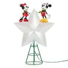 Disney Parks Store Mickey Minnie Light-Up Star Holiday Christmas Tree Topper NEW