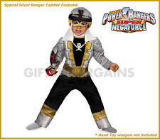 Power Rangers Special Silver Super Megaforce Boys Muscle Costume Toddler S:2-3y