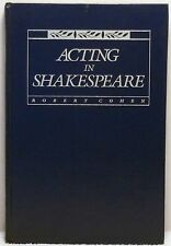 ACTING IN SHAKESPEARE Cohen History Theatre Theater Stage Play Character Scene