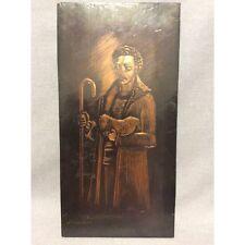 Art Russe Berger et mouton plaque gravure sur cuivre signée