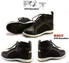 BOLT C20 SNEAKERS CASUAL ADULT MOTORCYCLE BOOTS BLACK NEW MODEL 2017 UK SIZE 7