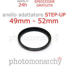 Anello STEP-UP adattatore da 49mm a 52mm filtro - STEP UP adapter ring 49 52 mm