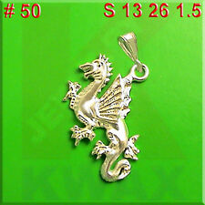 50 DRAGON Wing Medieval 925 Charm Sterling Silver Necklace Pendant