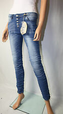 Blue Rags  Jeans Hose Knöpfe Stretch Gr. 38 USED  Denim  Skinny Crush  Neu
