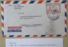 HONDURAS 1966 Luftpost Brief Frankatur Briefmarke 0.40 L. Correo Aereo n/ Berlin