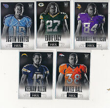 2013 Panini HRX Rookie Lot (5) - Lacy, Allen, Hunter, Ball & Patterson