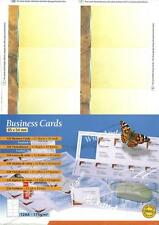 Decadry SCB-2075 120 Yellow Business Cards. Make your own Business cards on A4