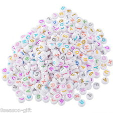 500Mixed Alphabet/Letter Acrylic Spacer Bead 7mm B10530