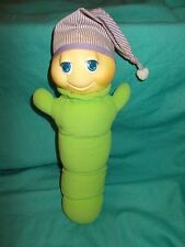 Vintage Hasbro Musical Gloworm Glow Worm Plush 1984 Light Works Music Does Not