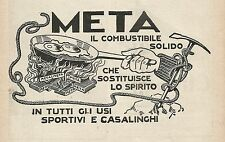 Z0885 META il combustibile solido - Pubblicità del 1929 - Advertising