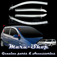 Chrome Door Window Vent Visor Deflector for 02~11 Hyundai Getz/Click 5DR