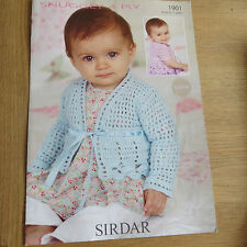 Sirdar Suggly 4 Ply Pattern No. 1901 - Baby Cardigans