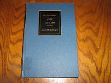 Managerial Cost Analysis 1966 First Edition James M. Fremgen (Hardcover)