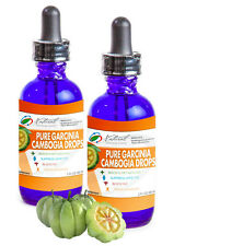 2 Pure Garcinia Cambogia Drops, 60% HCA, Weight Loss, 2 fl oz ea. 60 Day Supply