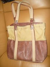 Lucky Brand  XXL Canvas With Leather Trim  Tote