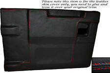 RED STITCH REAR TAILGATE DOOR CARD SKIN COVER FITS LAND ROVER DEFENDER 83-14