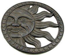 CELESTIAL SUN Cast Iron Stepping Stone Wall Plaque Garden Yard Art Decor NEW