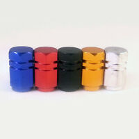 1 or 4x Metal Tyre Valve Dust Caps Covers / Car Bicycle Motorcycle blue red gold