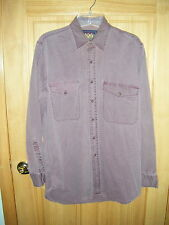 Mens RALPH LAUREN CHAPS Pure Quality Class A Good Fit  LS Maroon Shirt Sz M