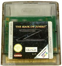 GAME BOY COLOR jeu video le masque de ZORRO the mask of console Nintendo console