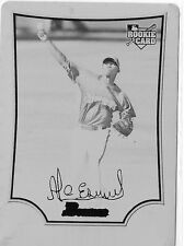 2009 BOWMAN ALCIDES ESCOBAR ROOKIE RC PRINTING PLATE BLACK 1 OF 1 1/1