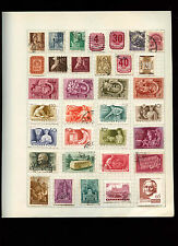 Hungary Album Page Of Stamps #V2746