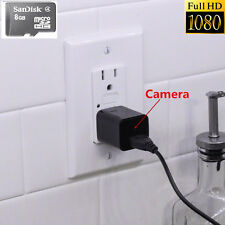 1080P 8GB HD Spy DVR Nanny Camera cell Phone Plug Charger Video Recorder Cam